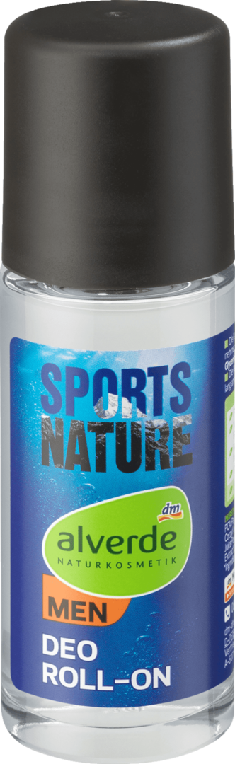 Alverde  Men Deo Roll-On Sports Nature @, 50 ml