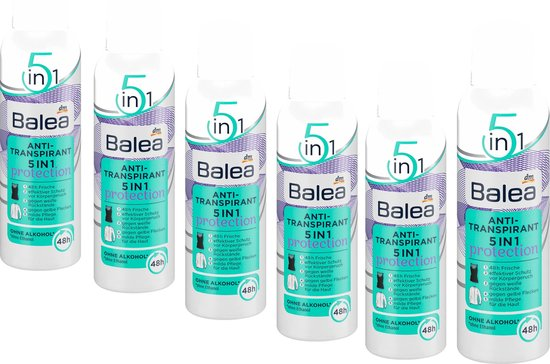Balea Deodorant Anti-Transpirant 5-in-1 - 6-pack 6 x 200 ml