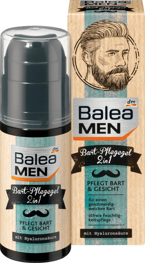 Balea MEN Baardverzorging Gel 2in1 50 ml