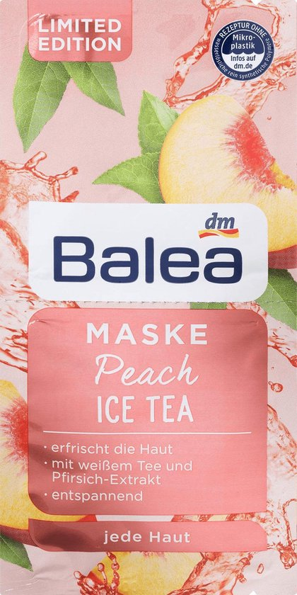 Balea Gezichtsmaskers verzorging Peach Ice Tea Limited Edition