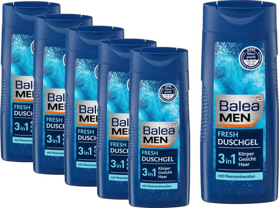 Balea MEN Douchege Fresh  6 pack (6 x 300 ml)