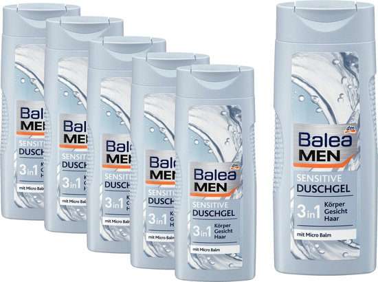 Balea MEN Douchegel Sensitive 6 pack (6 x 300 ml)