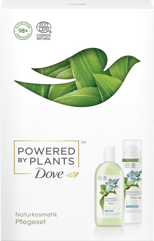 Dove Geschenkset Powered by Plants Eucalyptus (Douchegel 250ml + Deospray 75ml)